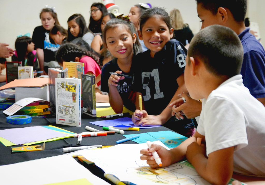 The Young Authors' Fair held on May 4, 2017, celebrated the writing of more than 1,300 elementary and middle school students from 45 schools by showcasing their stories, essays and poetry. (Justin Davis/Fresno County Superintendent of Schools)
