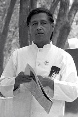 Cesar Chavez at the United Farmworkers Rally in 1972.